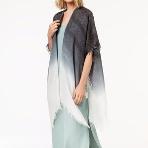 Steve Madden Ombre boho metallic stripe cover-up